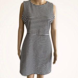 Old Navy black & white striped dress Sz.M